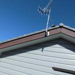 雨染みに依る破風板の改修