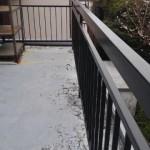 ベランダ床からの水漏れ、防水工事