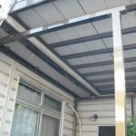 屋根、柱補強工事