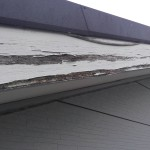 横浜市都筑区の屋根修理(破風板板金)しました。