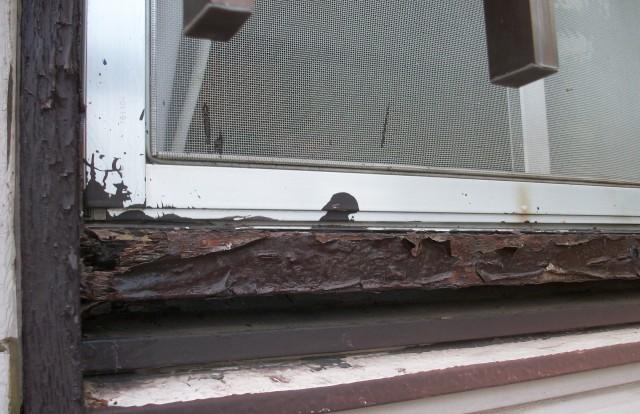 木製サッシ腐食 雨漏り