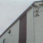 片流れ屋根の雨漏り修理 (世田谷区)