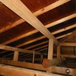 小屋裏点検も屋根修理の一環(杉並区)