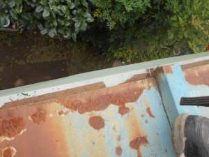 屋根 雨どい さび はがれ 釘抜け 雨漏り 屋根点検 ドローン調査