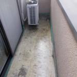 新宿区で梅雨前のベランダ雨漏り修理