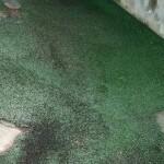 人工芝を敷いた新宿区のベランダで雨漏り修理